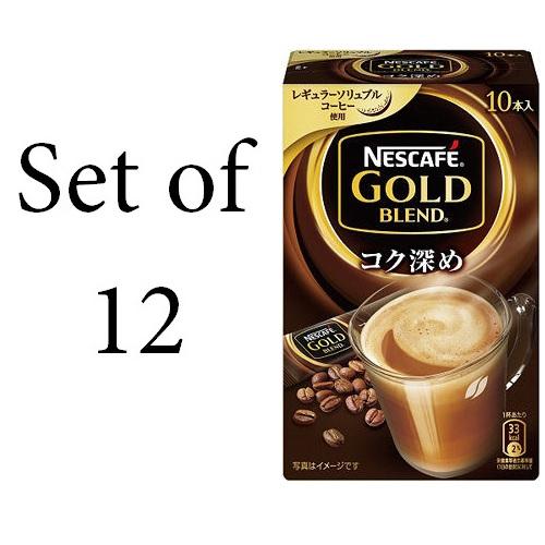 NESCAFE 雀巢咖啡黃金混合豐富深化棒咖啡10P 12件